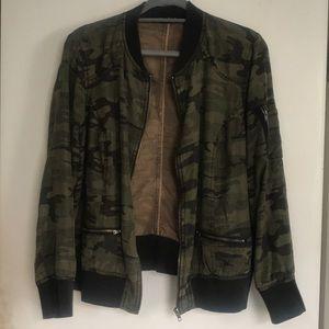 Dear John camo bomber jacket.